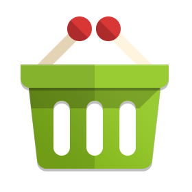 a green  basket holding 2 drum sticks with red tips