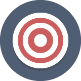 A Colored Animated Picture of A Bullseye board.